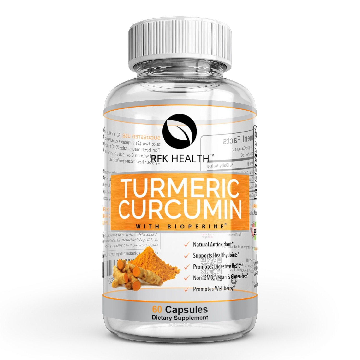 All-New Turmeric Curcumin with BioPerine (Black Pepper) 1300mg. Optimum Pain Relief & Joint Support. Doctor Formulated, Non-GMO, Gluten-Free for All-Ages. Natural Anti-Inflammatory (1 Month Supply)