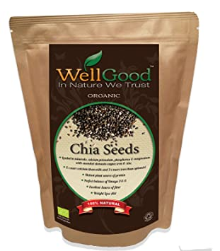 WellGood Superior Orgánica negro Chia semillas - Soil Association Certified GB - ORG- 05 |