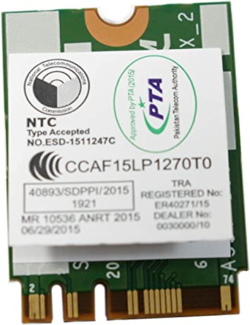 Amazon.com: DELL XPS 13 9350 bcm94350zae dw1820 a WiFi WLAN ...