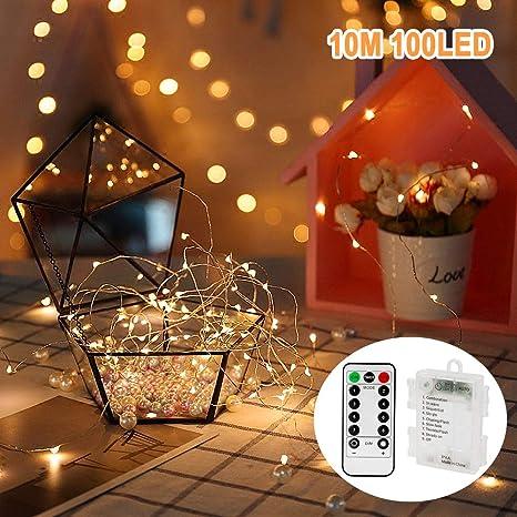 nasharia guirnalda 10 m 100 LED para la fiesta de cumpleaños ...
