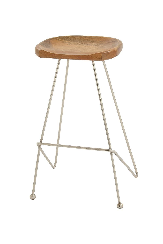 Amazoncom Deco 79 80898 Wood Metal Bar Stool 16 X 32 Kitchen