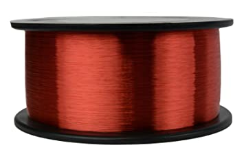 Amazon temco 42 awg copper magnet wire 1 lb 48841 ft 155c temco 42 awg copper magnet wire 1 lb 48841 ft 155c magnetic coil keyboard keysfo Image collections