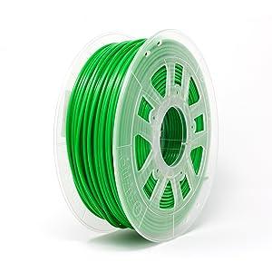 Gizmo Dorks 1.75 mm PLA Filament, 1 kg for 3D Printers, Green