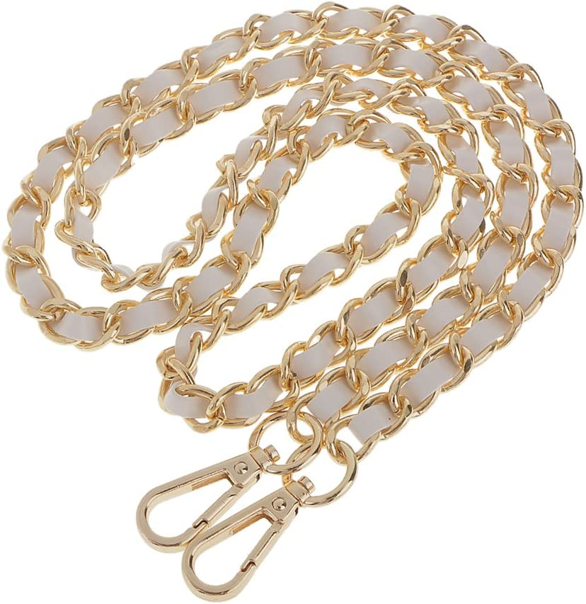 2pcs Bag Chain Ersatz Metall Lederband F/ür Handtasche 120cm