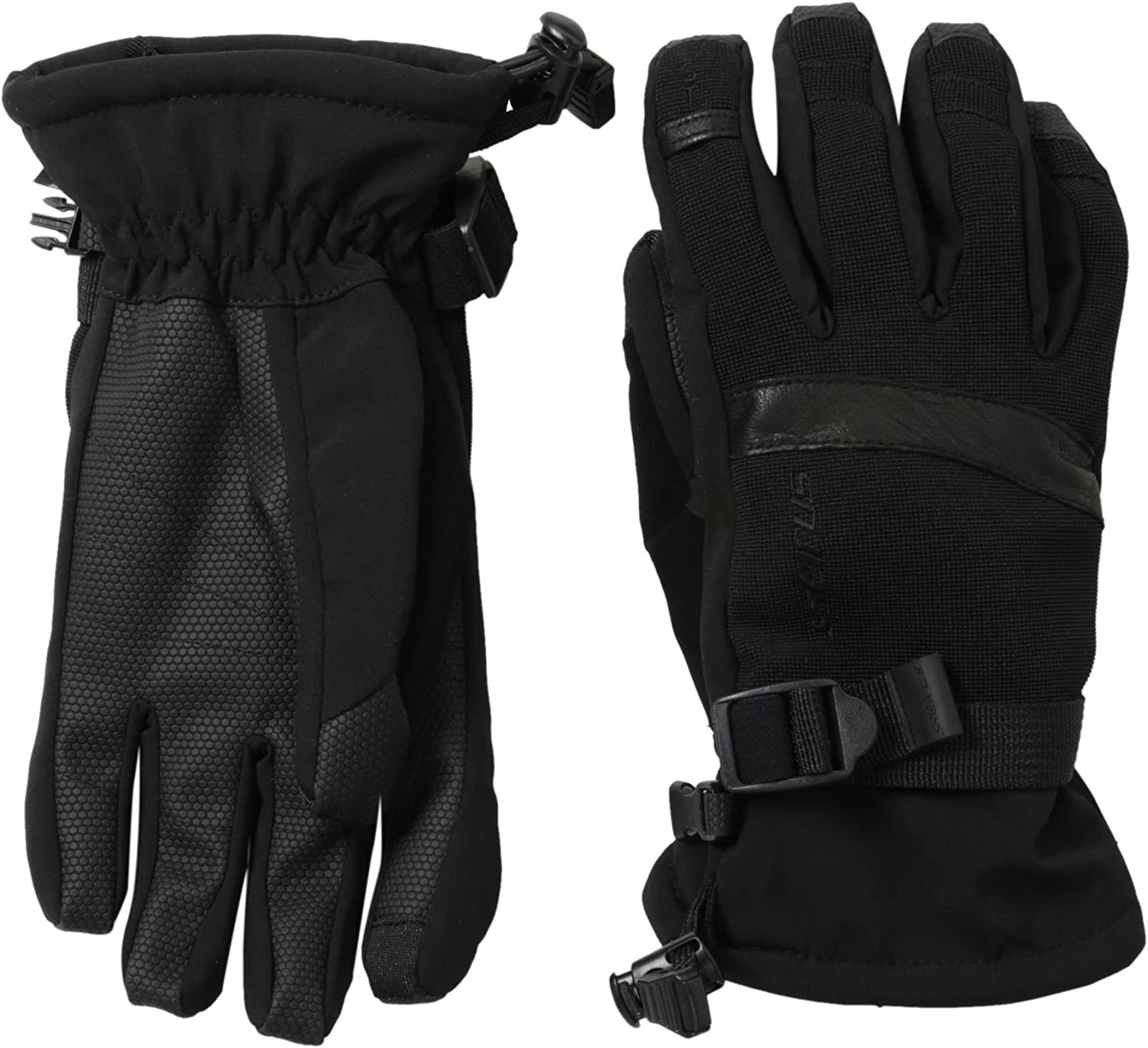 Seirus Innovation 1174 Mens Xtreme All Weather Edge Lightweight Polartec Form Fit Waterproof Leather Glove with Soundtouch Touch Screen Technology