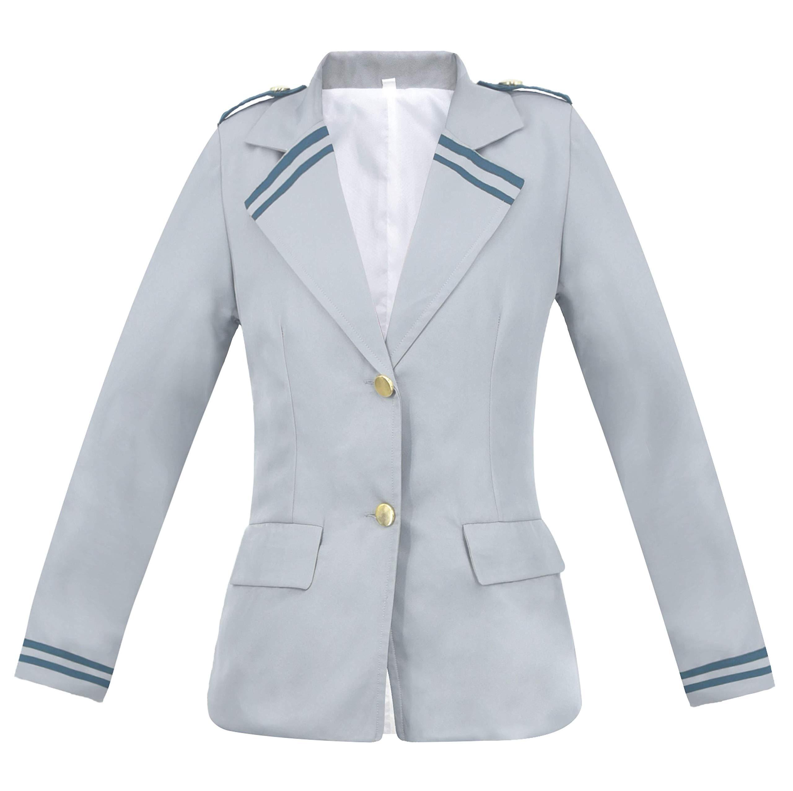 C-ZOFEK My Hero Academia Summer School Uniform Suit Shirt Dress Jacket Cosplay Costume -Adult Unisex US Size (Women Small)