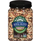 RiceSelect Royal Blend Rice, Blend of Texmati White, Brown, Wild & Red Rice, Gluten-Free, Non-GMO, 21 oz (Pack of 4 Jars)