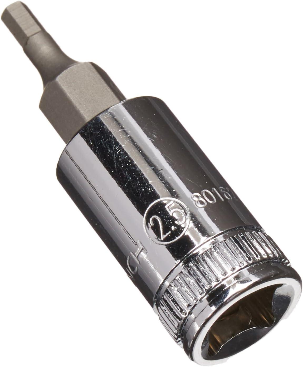 GEARWRENCH 1//4 Drive Hex Bit Metric Socket 2.5mm 80162