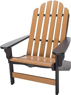 product image for Nags Head Hammocks Classic Adirondack Chair, Black and Cedar