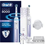Oral-B 8000 Electronic Power Rechargeable Battery Electric Toothbrush with Bluetooth Connectivity, Orchid Purple