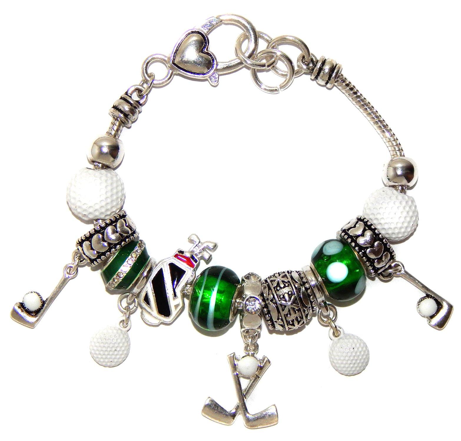 Landau Ambrosia Golf Theme Theme Charm Bracelet