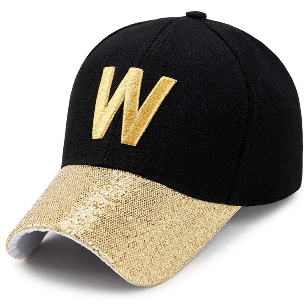 GKRY Baseball Caps Unisex/Cappellini da Baseball Caps Sun Regolabili/Ambientazione Esterna, Sport, Viaggi Ombrello da Sole con Paillettes da Uomo, Lettera L, Oro GKRY Sporting