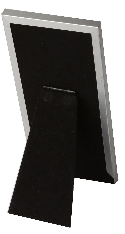 Brushed Silver Designer Metal Photo Booth Frame Single Frame Photo Booth Nook DF1M