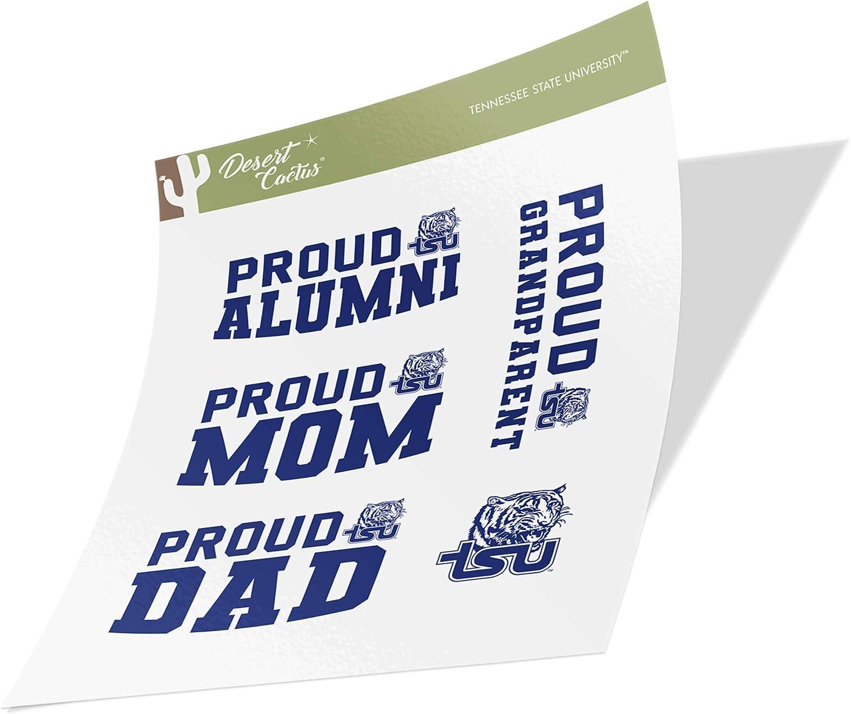 Tennessee State University TSU Tigers NCAA Sticker Vinyl Decal Laptop Water Bottle Car Scrapbook Family Full Sheet