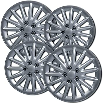 16 inch Hubcaps Best for 2004-2010 Toyota Sienna - (Set of 4) Wheel Covers 16in Hub Caps Silver Rim Cover - Car Accessories for 16 inch Wheels - Snap ...