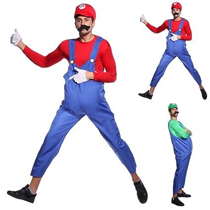 Maboobie - Disfraz de Mario Bros para Adulto hombre Talla XL ...