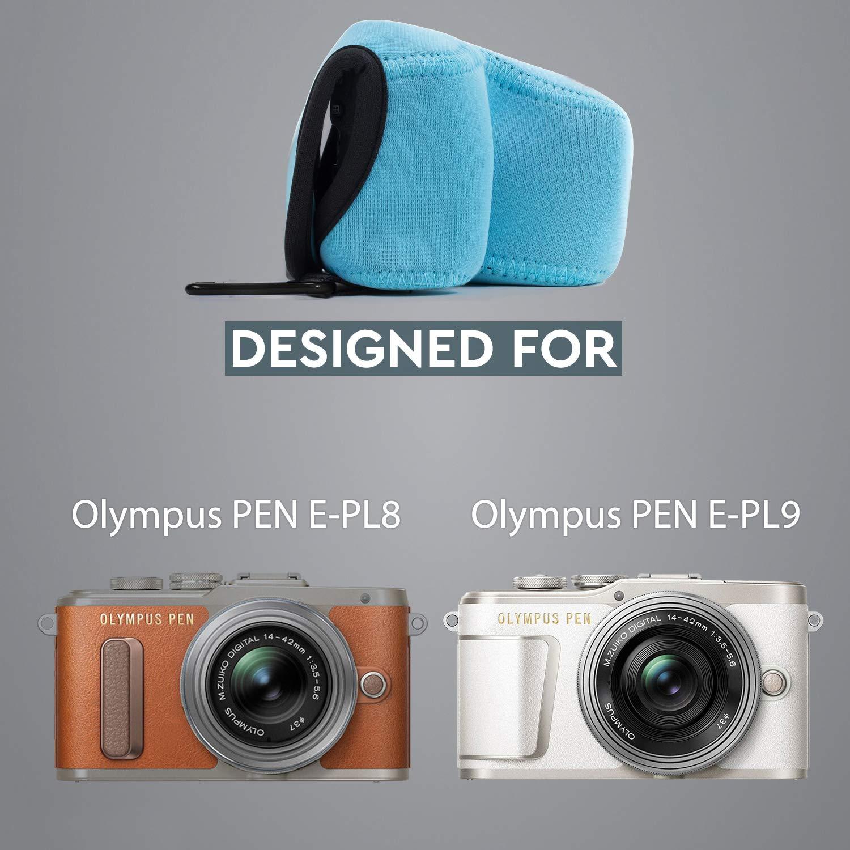 E-PL8 E-PL7 Estuche de c/ámara Ultra Ligero MegaGear Para Olympus Pen E-PL9 de Neopreno
