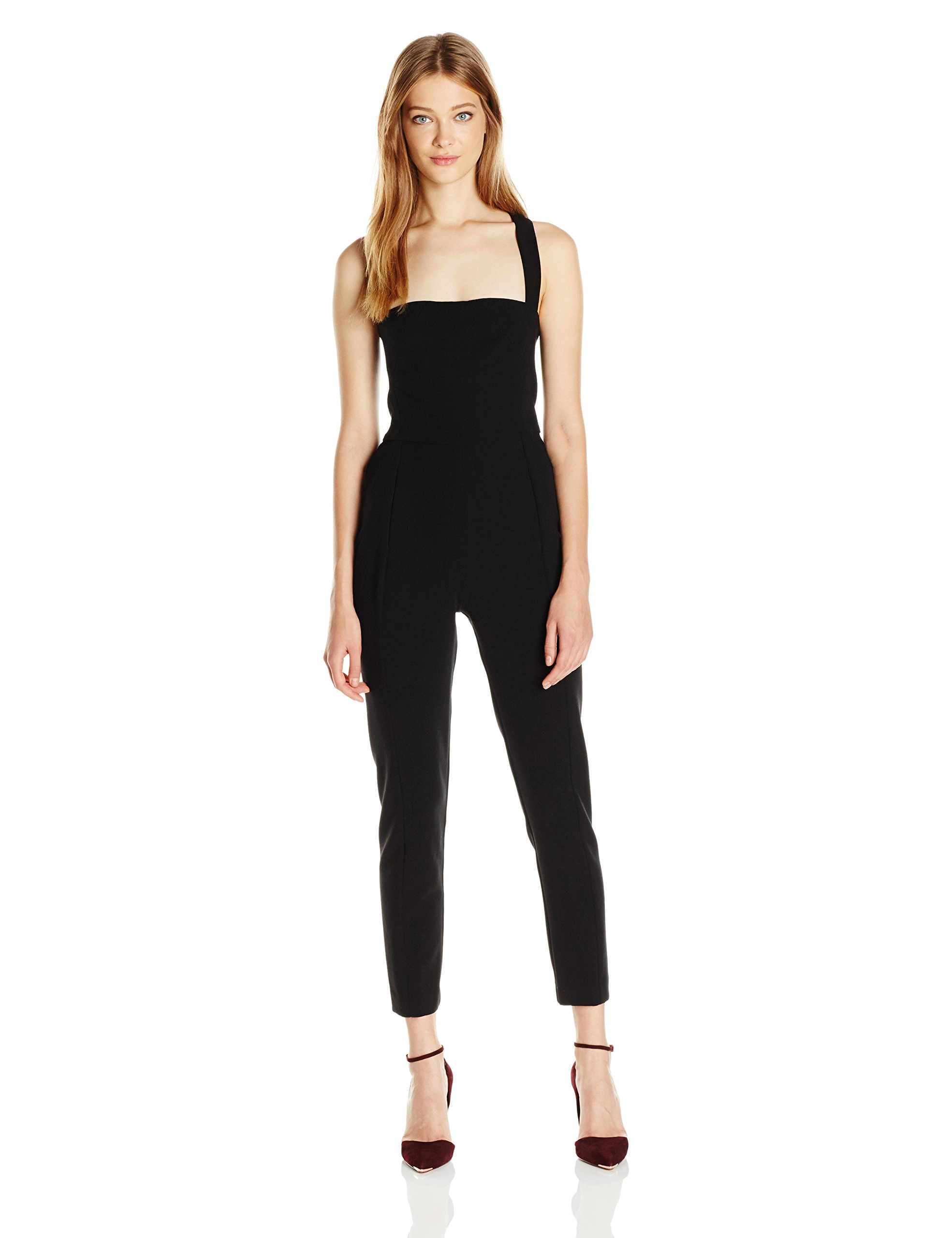 Black Halo Women's bene Jumpsuit, Black, 8