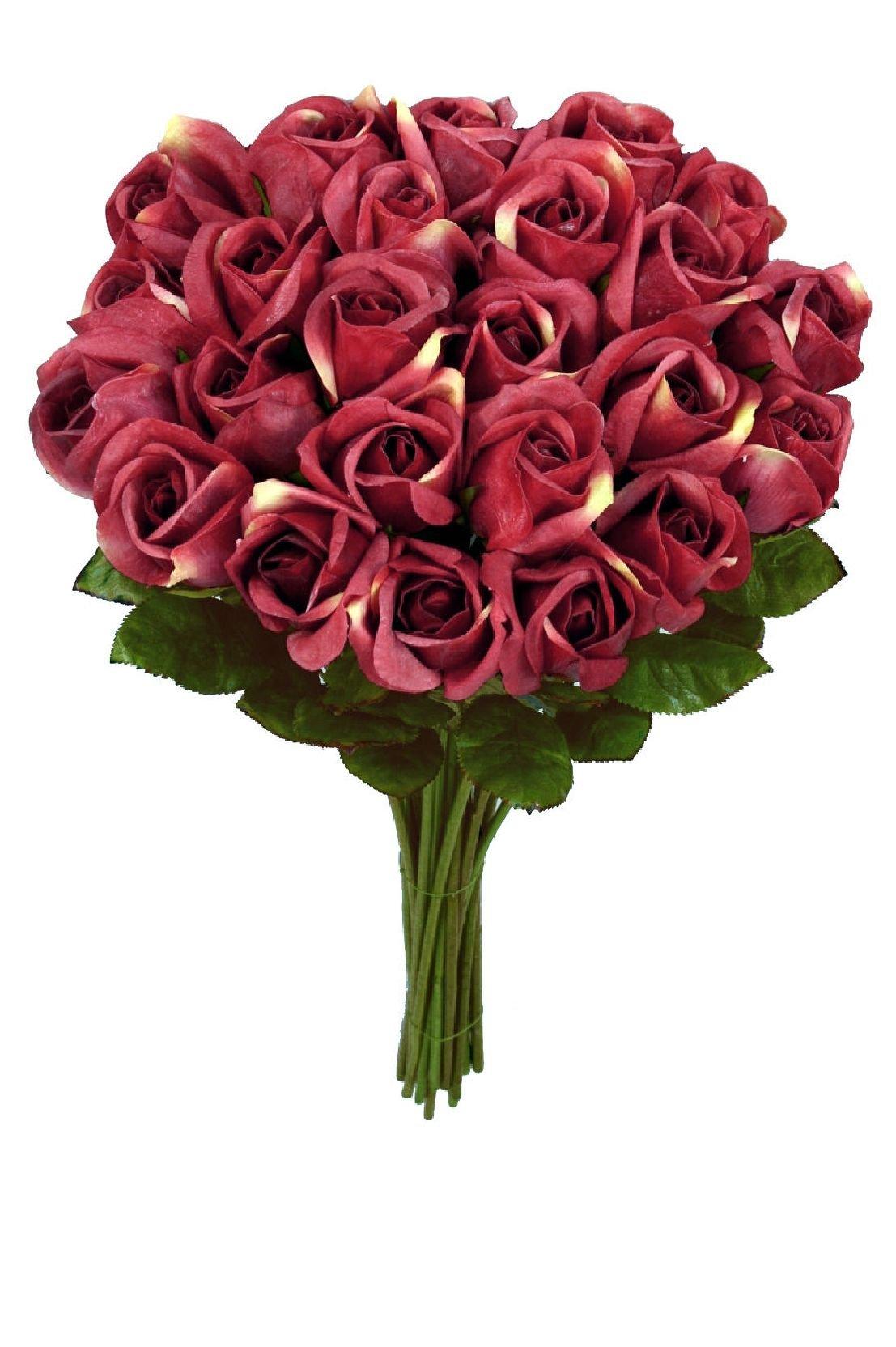 $126 Rose Bud 26'' Silk Flower 24pcs Artificial Plant R