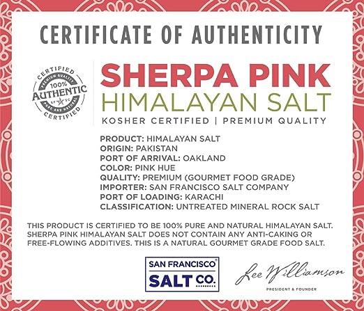 Sherpa Pink Gourmet Himalayan Salt - 5 lbs  Fine Grain