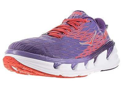 Hoka One One Womens Vanquish 2 Running Sneaker Shoe, Corsican Blue/Poppy  Red,