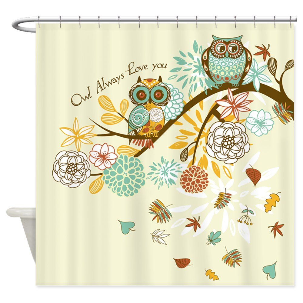Amazon CafePress Autumn Owl Decorative Fabric Shower Curtain 69x70 Home Kitchen