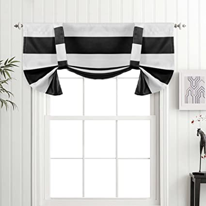 tie up window valance ribbon tie turquoize thermal insulated blackout curtain valances tie up window with two adjustable backs amazoncom
