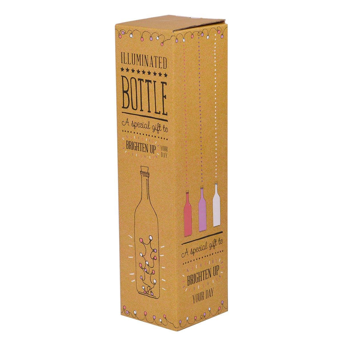 When It Rains Look For Rainbows Light Up Bottle Illuminated Bottles Gift Range: Amazon.es: Hogar
