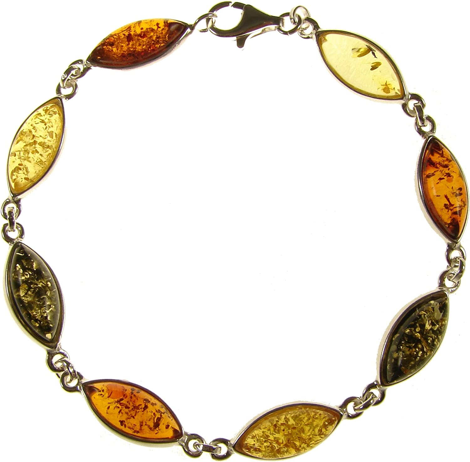 Nice Baltic Amber Bracelet with Silver 925