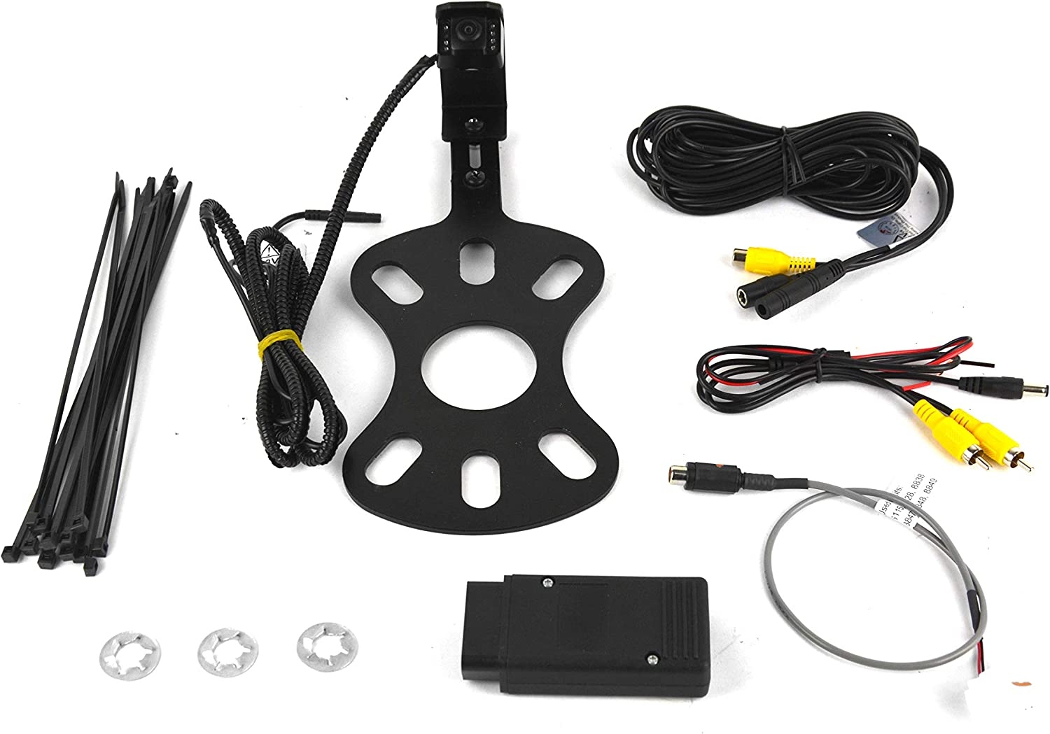 Brandmotion 9002-8817 Rear Vision Camera and Fixed Bracket for 2007-2018 Jeep Wrangler JK with Factory Display