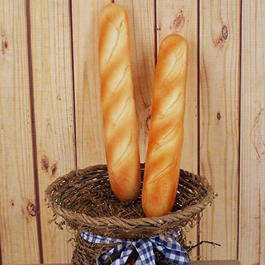 Simulation French Bread Imitation Fake French Long Realistic Bread Model Kitchen Decor Kids Pretend Tricky Toy