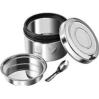 NanoNine Local Byte Stainless Steel Insulated Lock Lunch Box, Medium, Silver