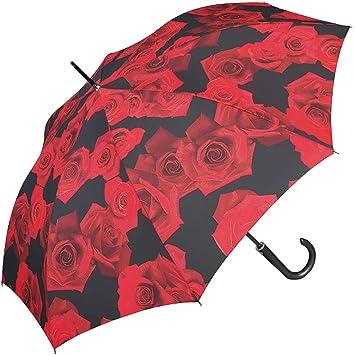 b54f6c1568c4 Happy Rain Long AC Kinematic Umbrella 87 cm red rose: Amazon.co.uk ...