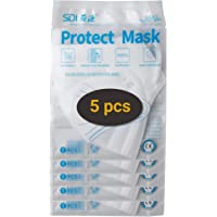Protector facial con bucle flexible y válvula