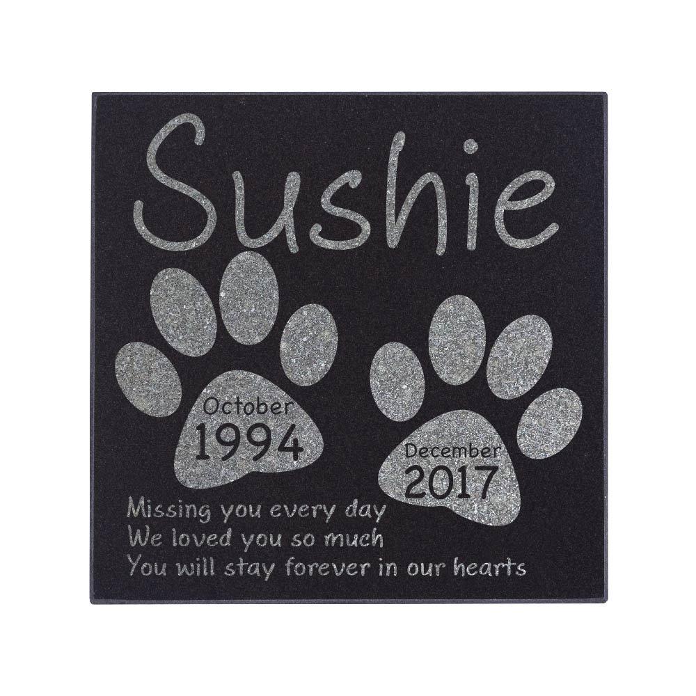 Memorial Pet Headstone - Loyal Companion, Dog and Cat Personalized Custom Granite Grave Marker D-3