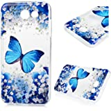 Galaxy J3 Emerge Case,J3 2017 / Amp Prime 2 / J3 Prime / Express Prime 2 Case, YOKIRIN Shockproof Slim Fit Anti-Scratch Protective Lightweight Soft TPU Back Cover with Colorful Butterfly Bumper