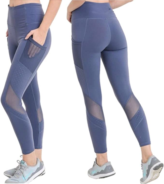 Amazon.com: Mono B Yoga Leggings High Waist Pockets ...
