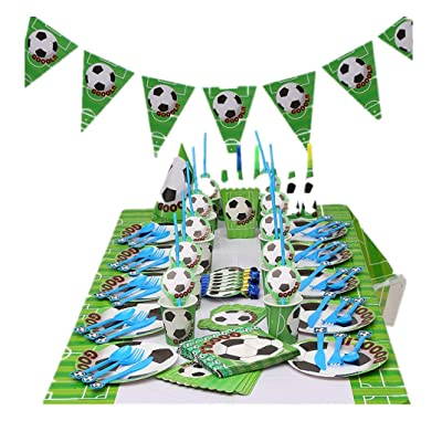 Soccer Party Supplies Sports Themed Party Decoration for Boys 10 Guess 16 Pieces for Birthday Party Serves: Toys & Games