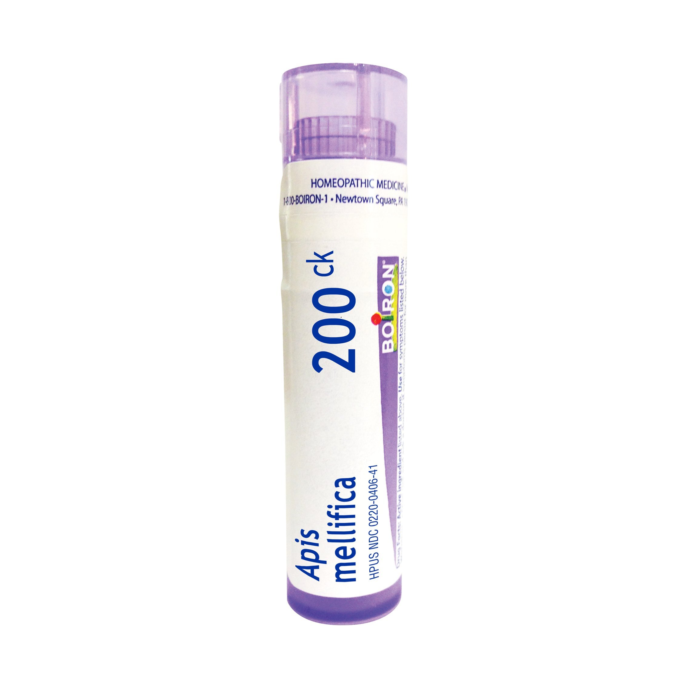Boiron Apis Mellifica 200CK, 80 Pellets, Homeopathic Medicine for Insect Bites