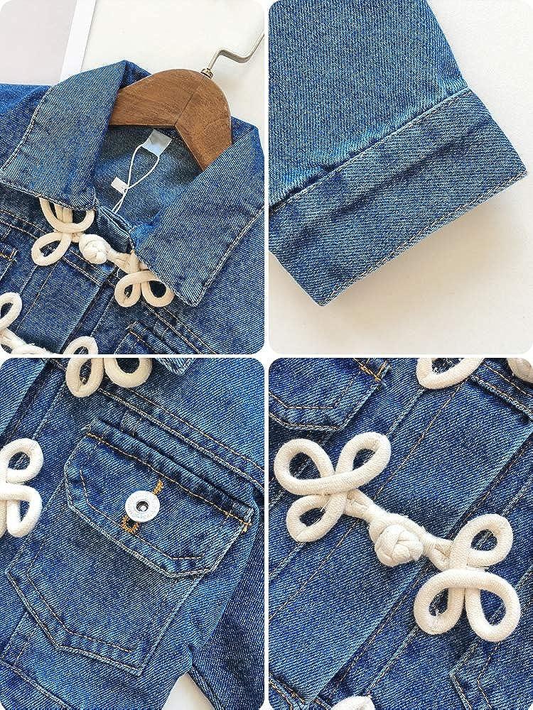 CosSky Little Girls Denim Jean Jacket Toddler Denim Coat Outwear