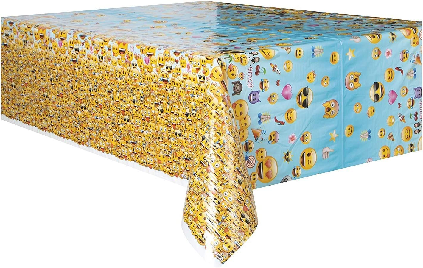 7ft x 4.5ft WOW Plastic Emoji Tablecloth