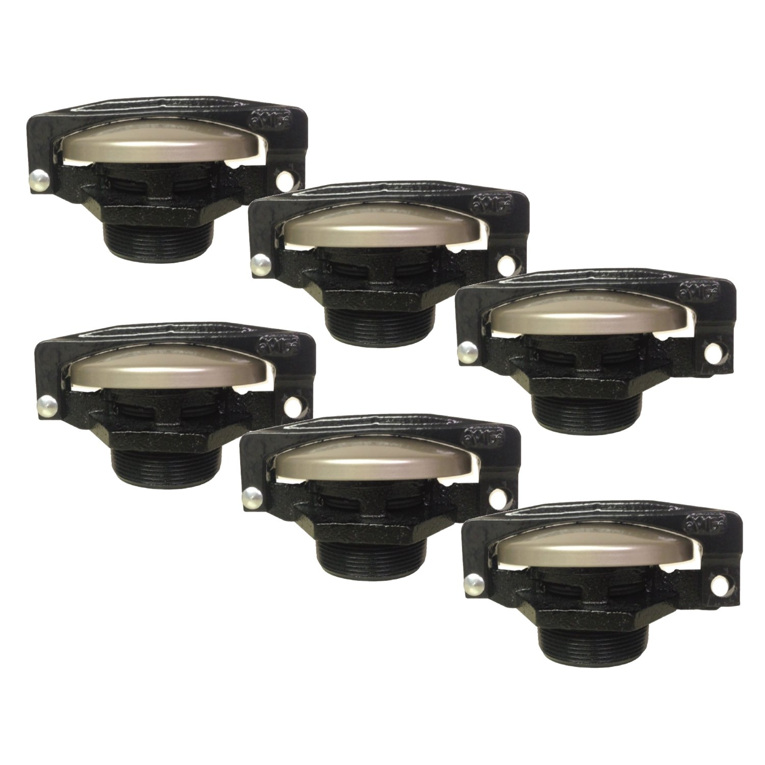 Cim-Tek 60002-6 Pre-Vent Cap & Base w/ Lock Arm; 6 Pack