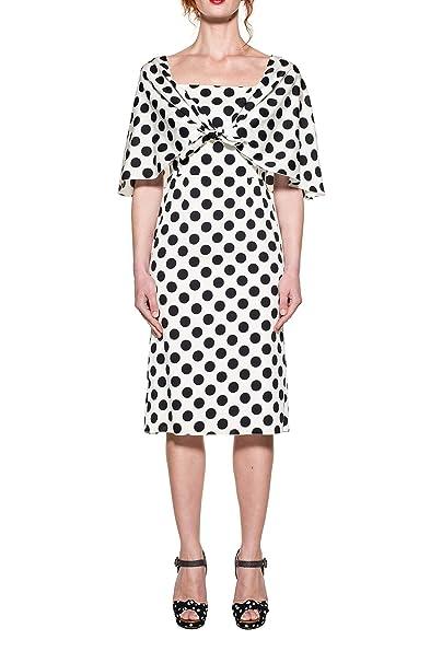 Dolce E Gabbana Vestito Donna F63e7tfsanbhwapn Seta Bianco Nero ... fed22d2f86d