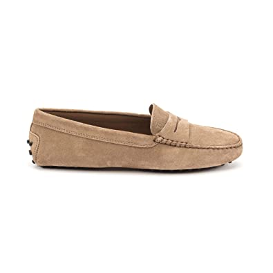 5204e7ad971dd Image Unavailable. Image not available for. Color: Tod's Women's  Xxw00g00010re0s812 Beige Suede Loafers