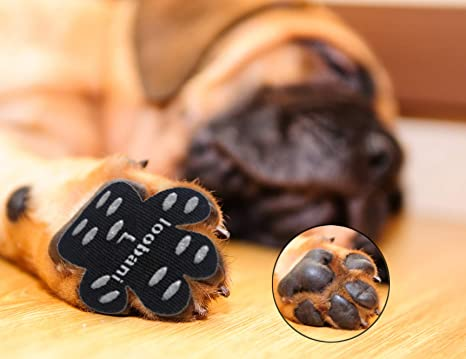 82dfcf4c8f0d LOOBANI 48 Pieces Dog Paw Protector Traction Pads to Keeps Dogs from  Slipping On Floors