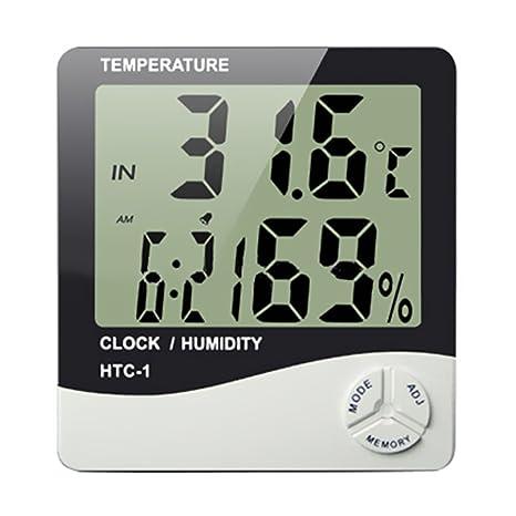 Termómetro digital Higrómetro,AZXES, LCD Medidor de Digital Termómetro Higrómetro, Mini Medidor de