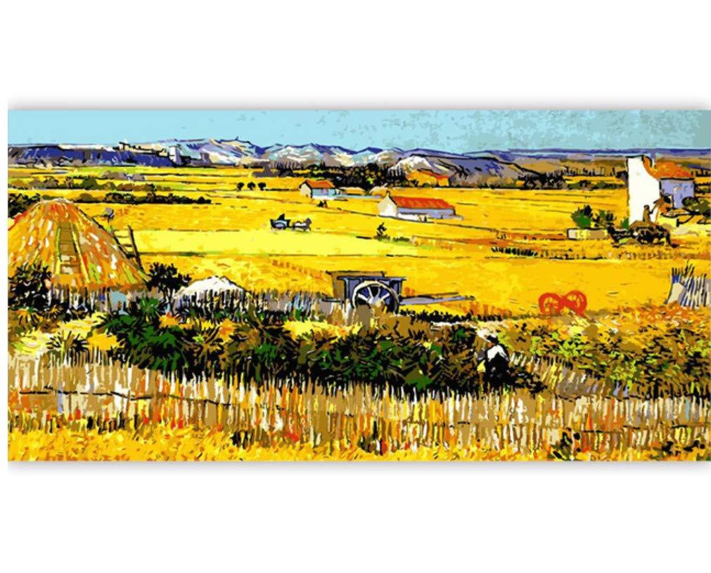 XIGZI Stadtlandschaftsmalerei nach Zahlen Kits Zeichnung Malen nach Zahlen Acrylmalerei auf Leinwand für Heimtextilien Artwork 40X50 cm,Mit Holzrahmen,A B07NWX413D | Elegantes Aussehen