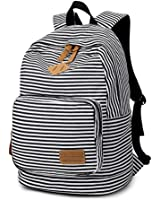 Artone Stripe School Bag Daypack Casual Backpack With Laptop Compartment