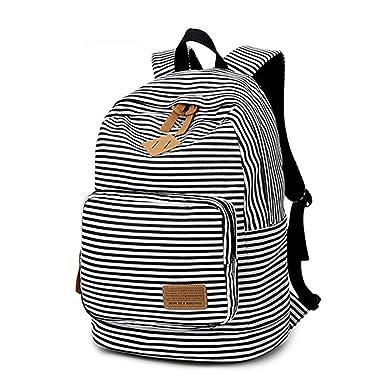 Amazon.com   Artone Stripe School Bag Daypack Casual Backpack With ...