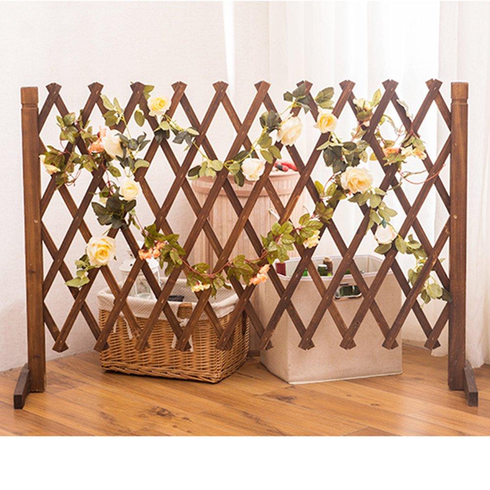 Amazon.com: Estantería de madera maciza con diseño de flores ...